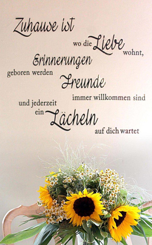 Urlaub im Landhaus Kanzler in Thandorf - Wandtatoo mit Sonnenblumen Strauß
