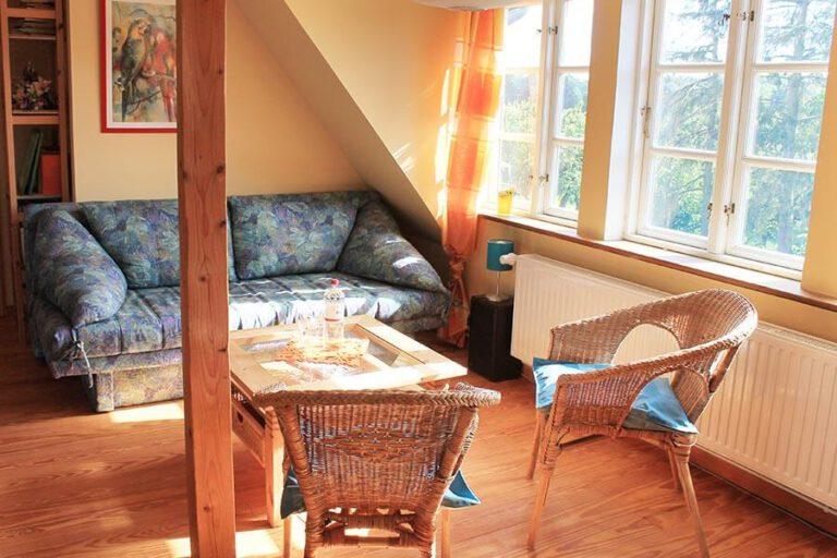 Urlaub im Landhaus Kanzler in Thandorf - Wohnzimmer Sofa Ecke